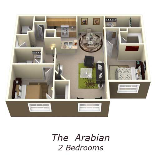 The Arabian 2 Bedrooms